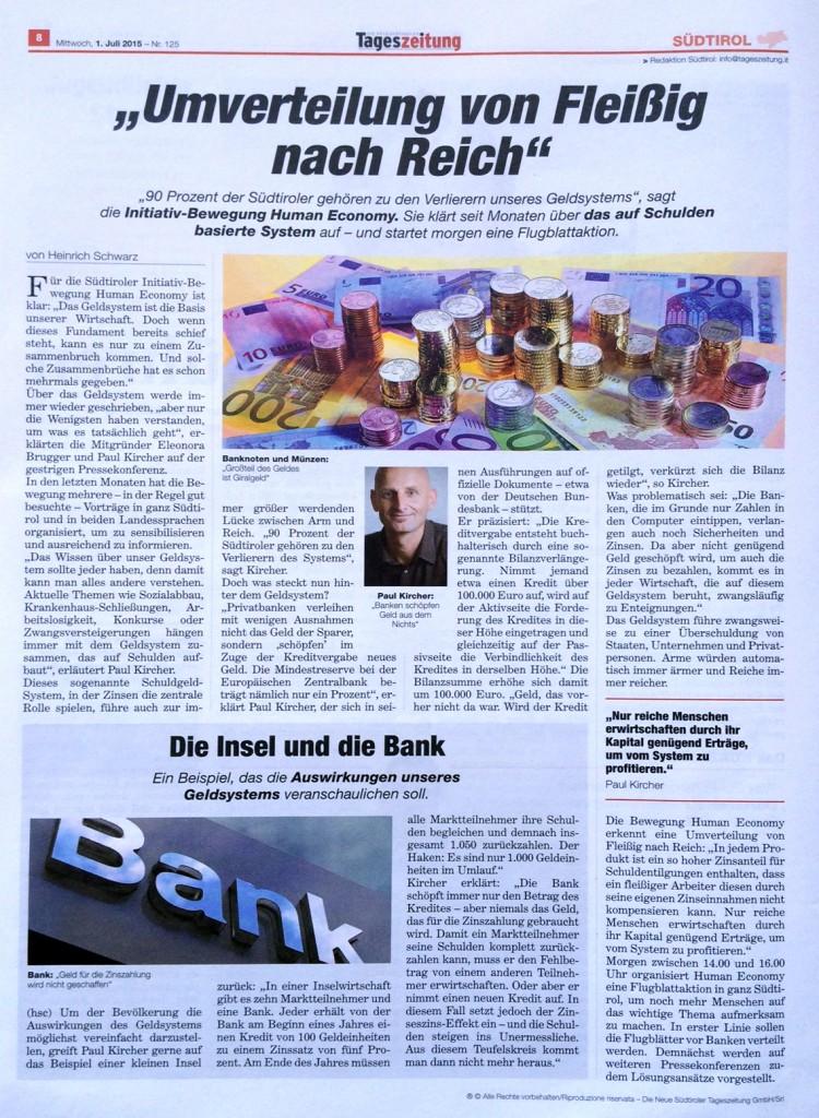 ArtikelTageszeitung1-7-2015-Reiche-werenReicher