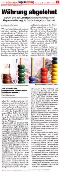 Artikel Tageszeitung 08.06.2017 - 150 dpi